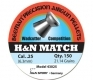Beeman H&N Match .25 Cal, 21.14 Grains, Wadcutter, 150/Tin