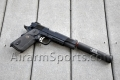 SOCOM MEU SOC 1911 Full Metal GBB Airsoft Pistol (Black) w/ Outback Barrel Extension